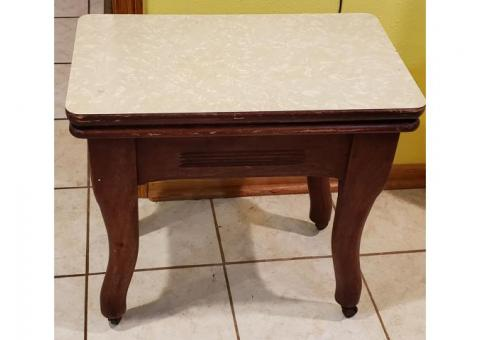 Small Antique walnut table