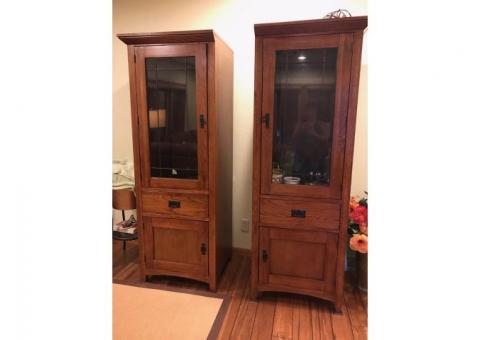 curio cabinets with storage below