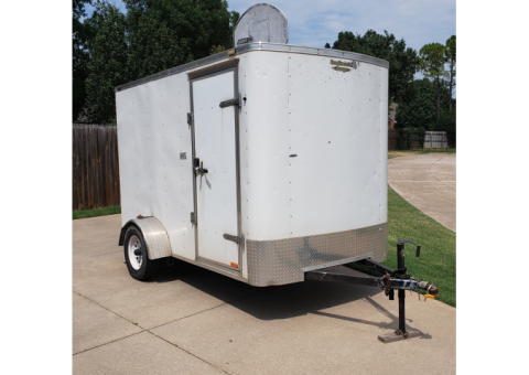 "6x10 custom built enclosed cargo trailer-plus 6'7"" interior height"